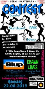 Skatecontest mit Konzert am 22. August 2015